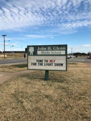 John H. Glenn Middle School, 2201 University Ave., is hosting a Christmas radio light show.