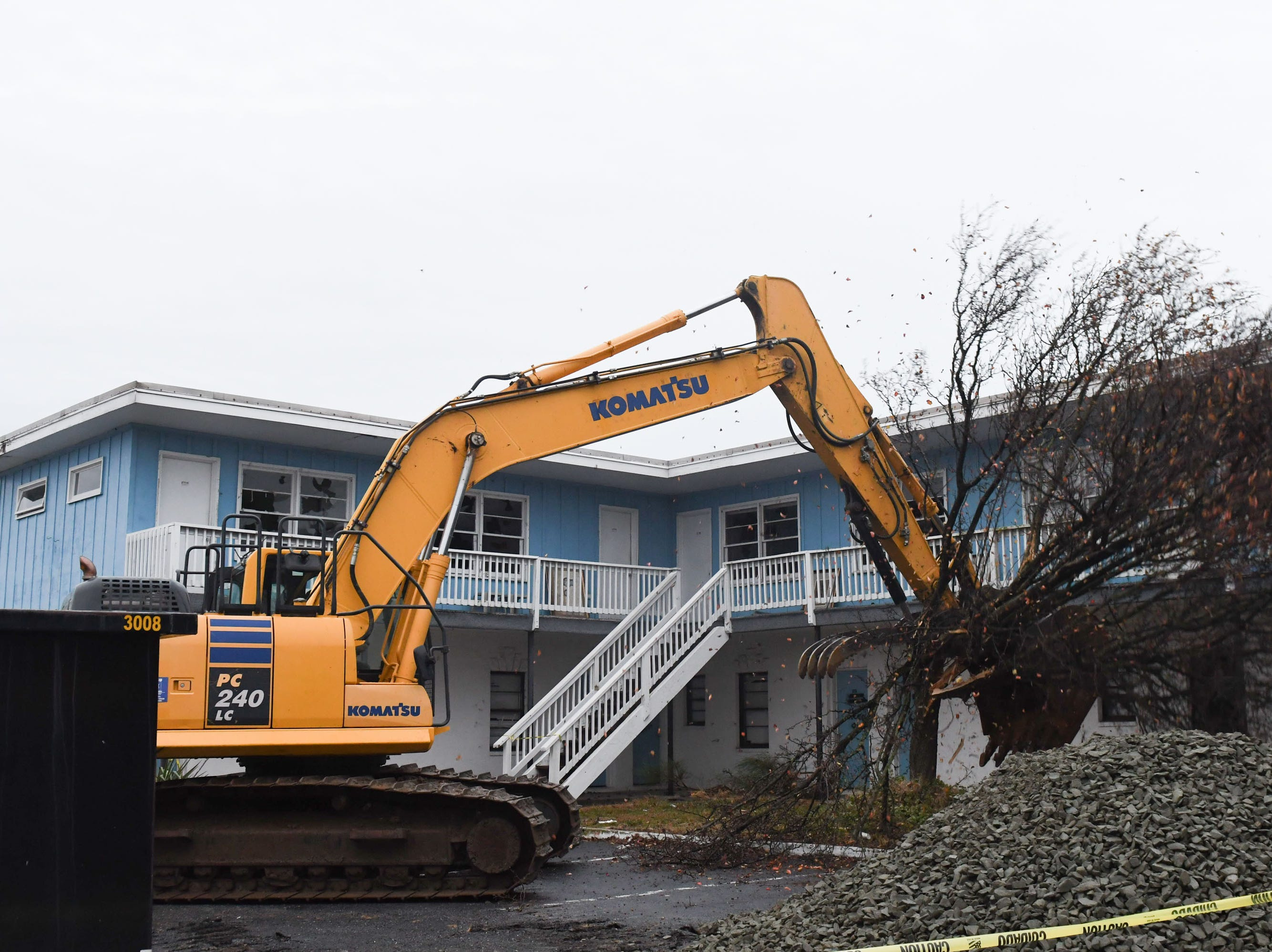 """The community said good bye to the Sands Motel located in Fenwick Island, Del. on Thursday, Dec. 20, 2018. During a """"Demo Party"""" held by the owners of the property."""