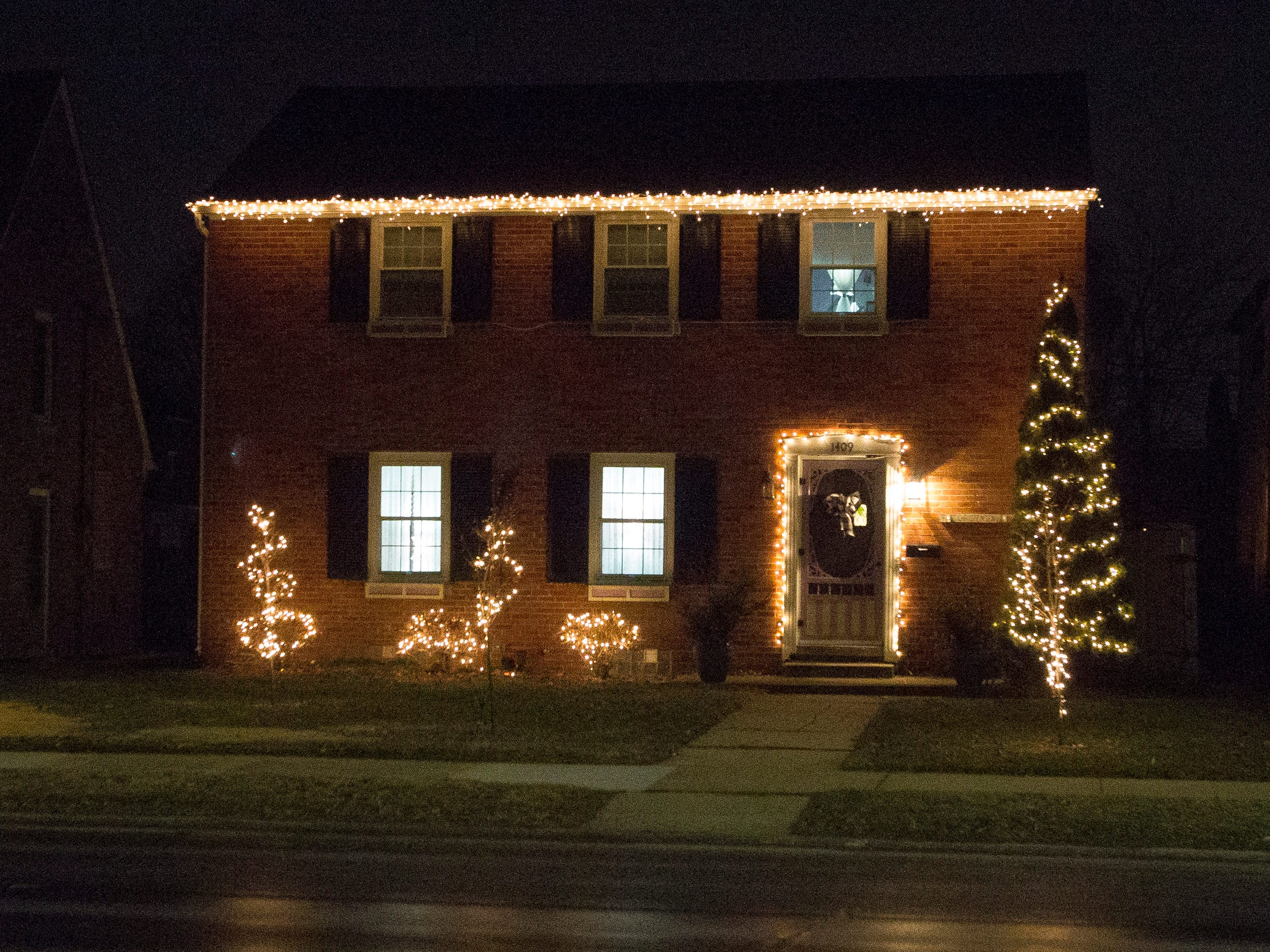 A decorated home along North Avenue, Wednesday, December 19, 2018, in Sheboygan, Wis.
