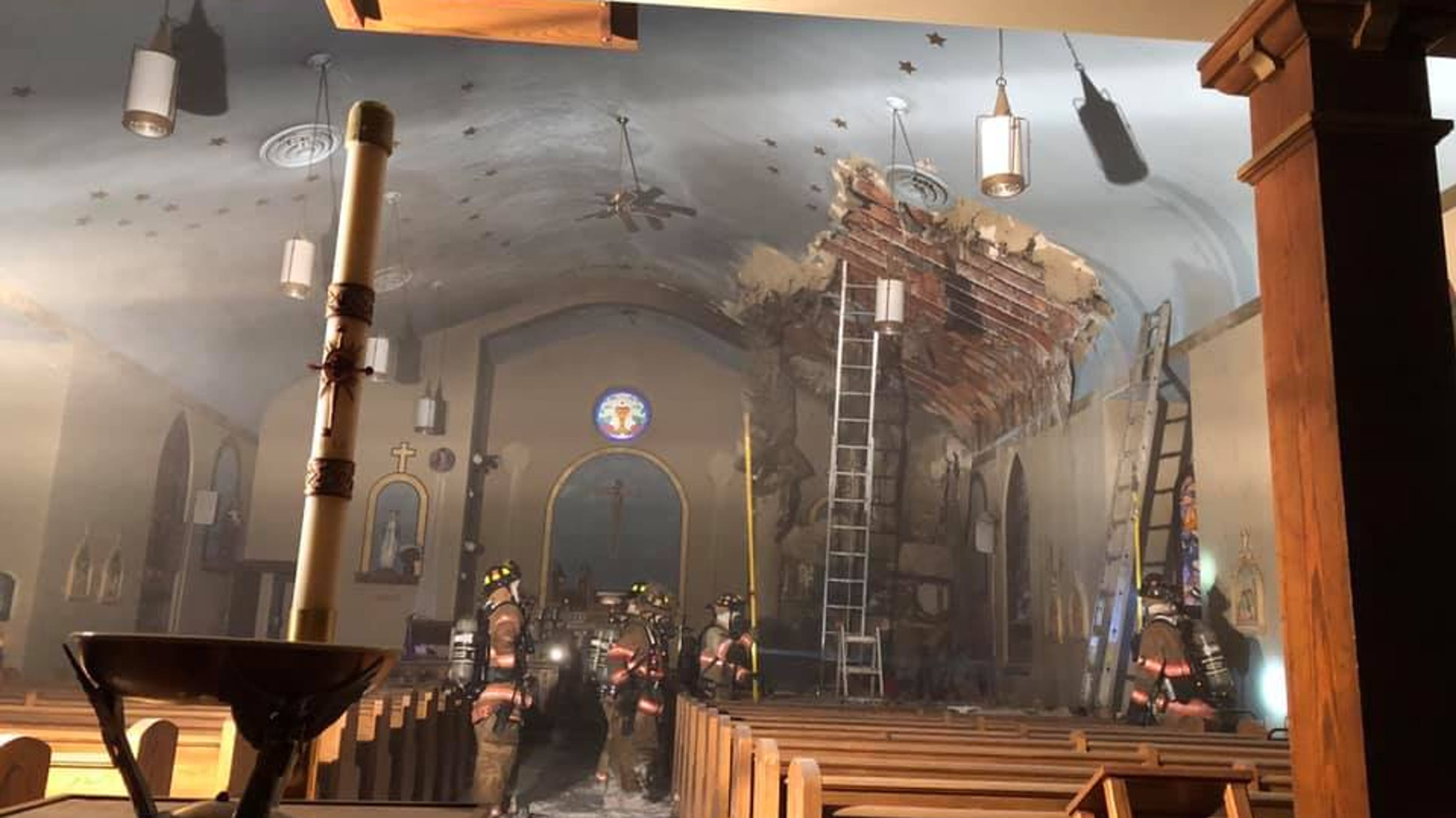 Our Lady of Guadalupe: Historic church fire started by candle