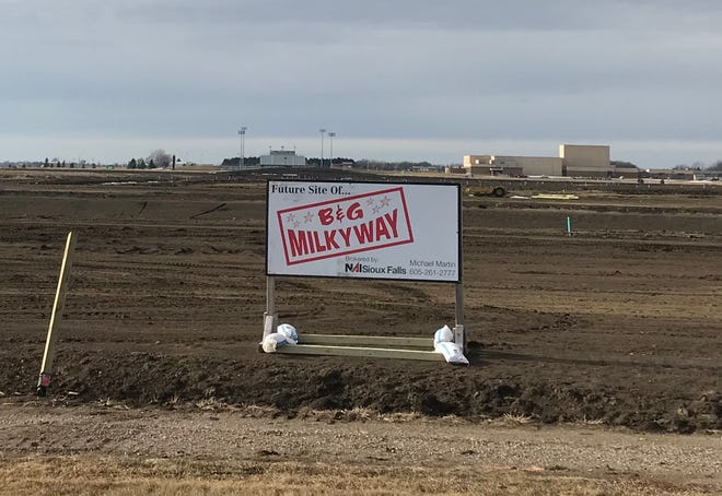 A sign marking the future site of B&H Milky way in Harrisburg, northeast of the intersection of Cliff Avenue and Willow Street.