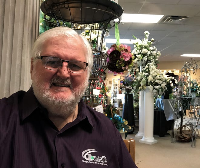 Pat Gustaf, owner of Gustaf's Greenery in Sioux Falls, at his shop in Sioux Falls, South Dakota.