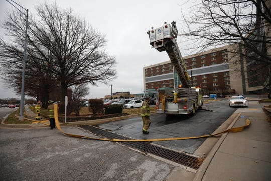 Firefighters responded to Cox Hospital on Thursday for a car fire.