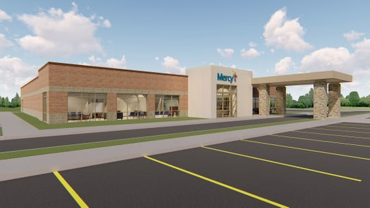 A rendering of the new Mercy clinic at Republic Road and Scenic Ave. in Springfield.