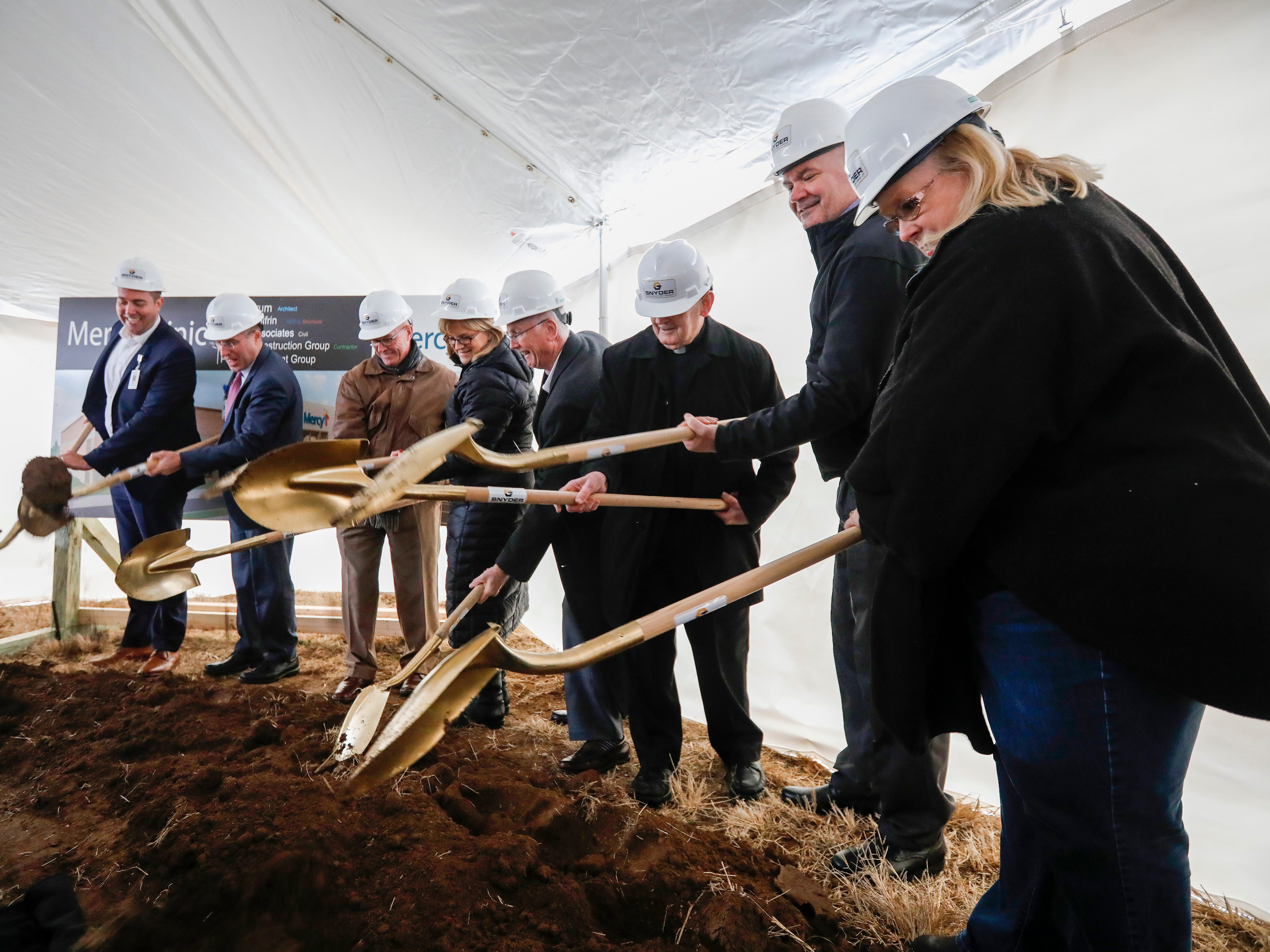 Mercy Hospital broke ground for the new Mercy clinic on Thursday, Dec. 20, 2018. The clinic will be located at Republic Road and Scenic Avenue.