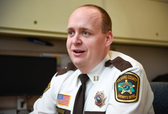 Capt. Mark Maslonkowski talks about the streamlined health program for inmates at the Stearns County Jail Thursday, Dec. 13, provided by CentraCare.