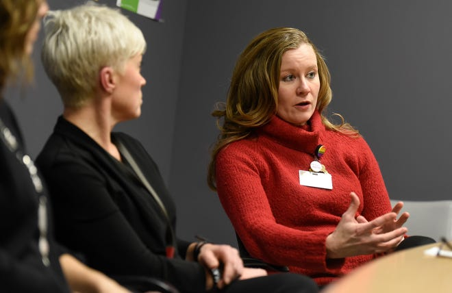 Dr. Elizabeth Phillips talks about topics to be discussed during a Body Aware! event to be held Jan. 17 during an interview Friday, Dec. 14, in St. Cloud.
