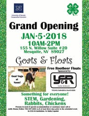 The University of Nevada Cooperative Extension will be holding a grand opening of their Mesquite office on Jan. 5.