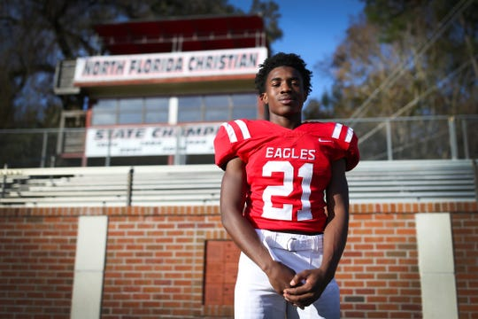 North Florida Christian senior Von Hayes was named the 2018 All-Big Bend Defensive Player of the Year in football while playing cornerback and receiver for an Eagles team that went 9-4 and won a Class 2A state title. On defense, Hayes recorded 53 tackles, made 7 interceptions, broke up 16 passes, forced a fumble, blocked a field goal, and scored two defensive touchdowns. Offensively, he returned a kickoff for a touchdown, caught 23 passes for 383 yards and two touchdowns, and rushed for 65 yards and a touchdown.