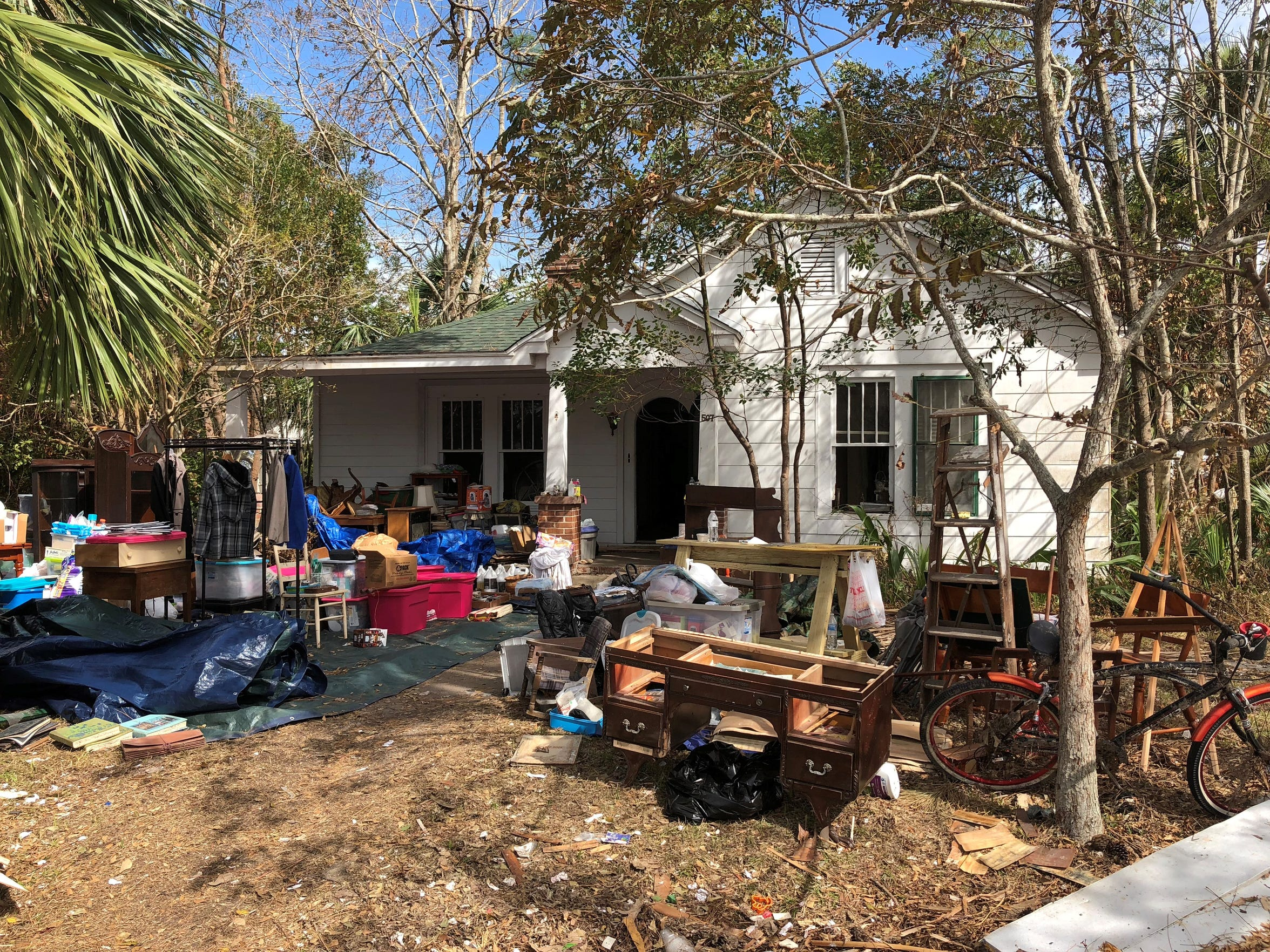 The Port Saint Joe home that Jamie Betz helped clean after Hurricane Michael.