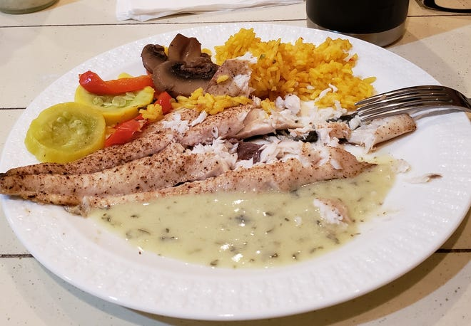 Grilled Spanish mackerel with Spanish rice and steamed veggies make a trip to the reef south of St. Lucie Inlet worthwhile.