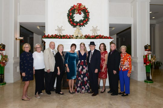 Women's Refuge of Vero Beach Board of Directors Carol Lord, left, Founder Donna Robart, Advisory Board Member Gene Lofaro, Jeanine Harris, Secretary Pat Marine, Keynote Speaker Rebekah Gregory, Kit Fields, Bill Ludwig and Langie Mannion.