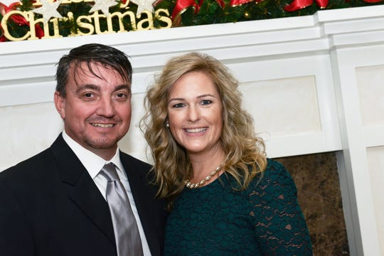 Shane and Tara Wright at the Women's Refuge of Vero Beach's 2018 Christmas Banquet at Oak Harbor Club.