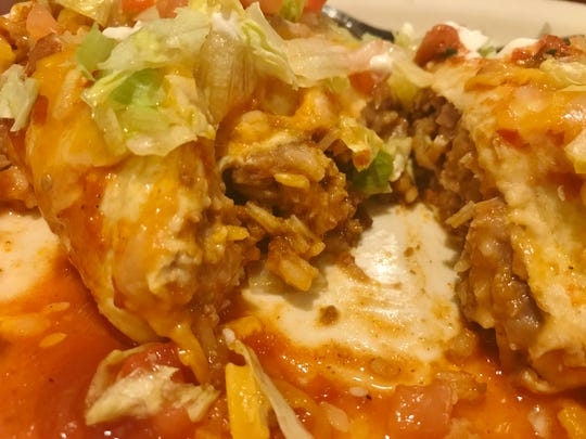 Up close view of Casa Azteca's Macho Burrito.