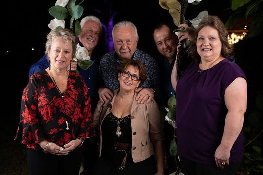 "Debbie and Mitch Clark, left, Karla and Ken Klein and David and Lora Smith at H.A.L.O. No-Kill Rescue's ""Love at First Bite"" fundraiser at Magnolia Manor."
