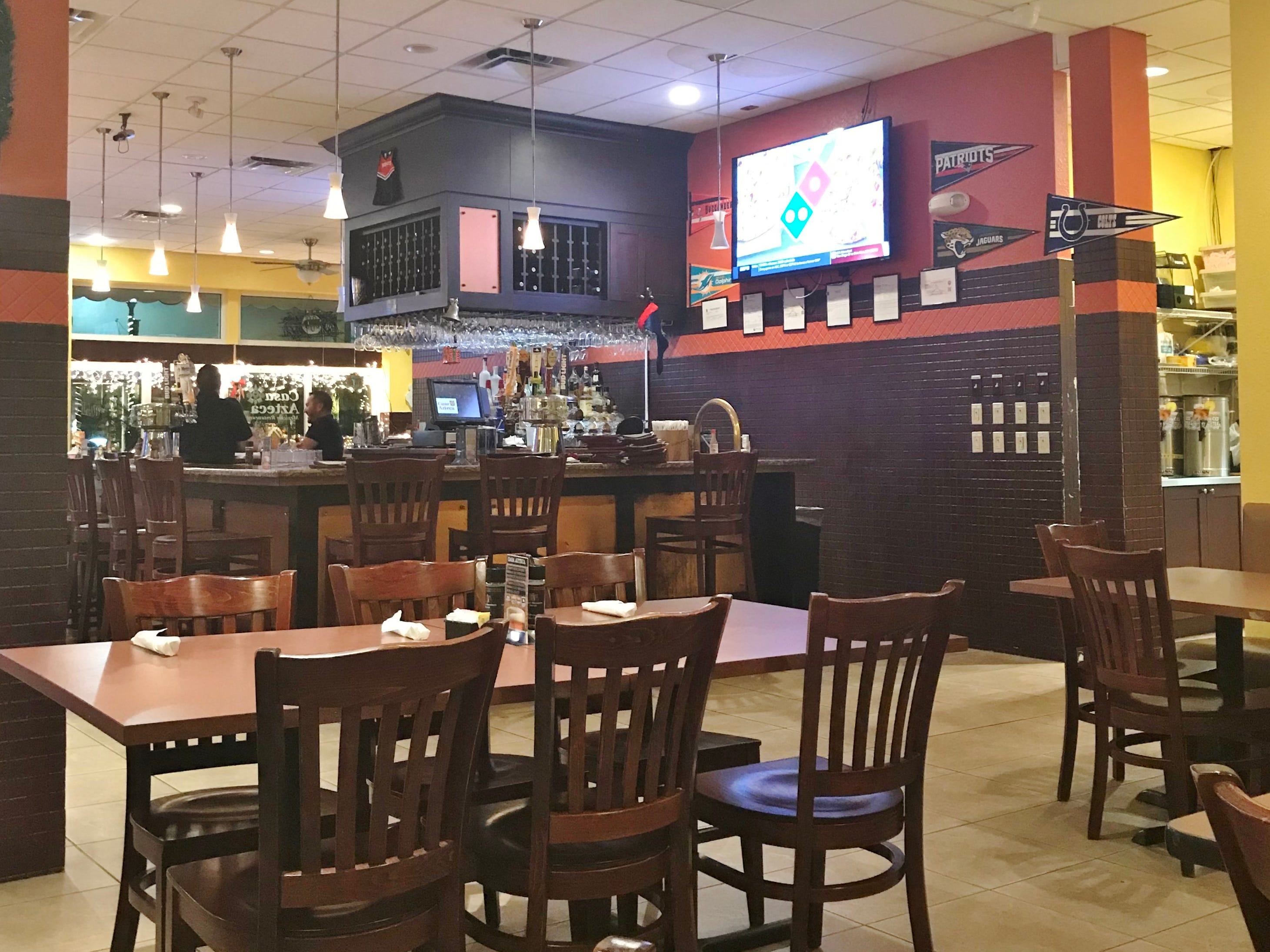 View of the bar area at Casa Azteca in Fort Pierce.