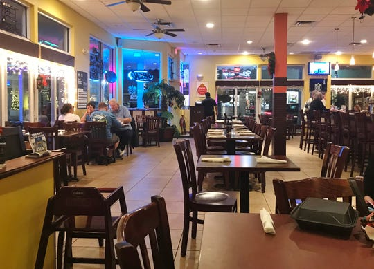 Dining area at Casa Azteca at 101 North Second Street in Fort Pierce.