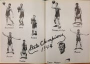 Vero Beach's boys basketball team got a two-page spread in the 1944 Arrowhead, the school yearbook, after winning the Class B state title.