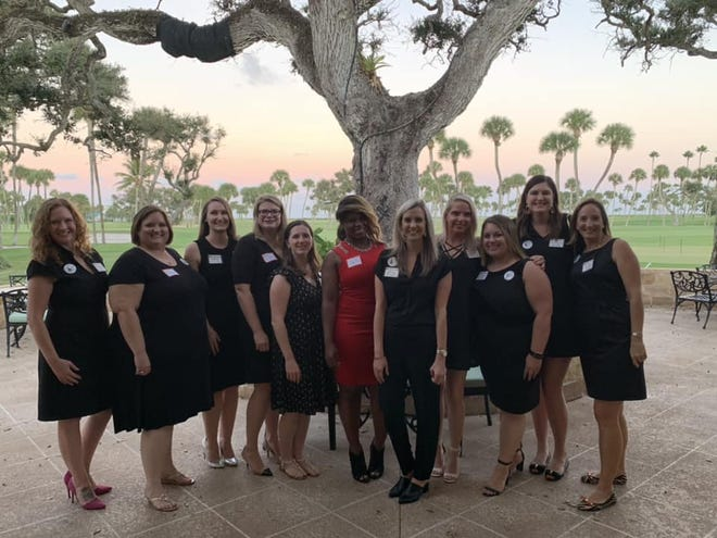 The Junior League of Indian River members Meredith Egan, left, Meg Cunningham, Ashley Novander, Amanda James, Heather Hedal, Jalissa Harris, Alison Cloughley, Kelly Peters, Chelsea Miller, Brittany Beatty and Avery Twiss.