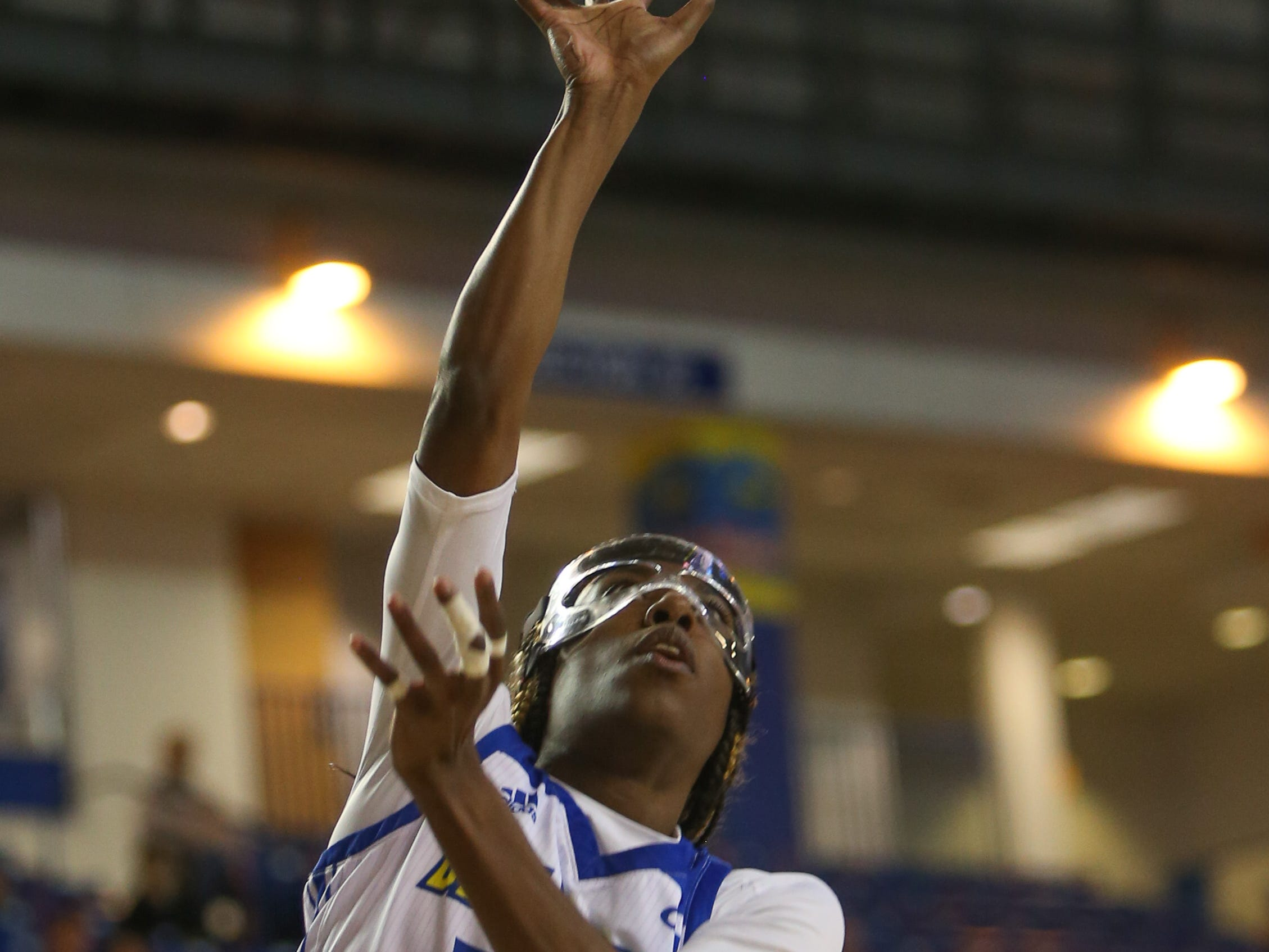 Delaware guard Jasmine Dickey gets an easy put back in the fourth quarter. The University of Delaware women's basketball team falls to No. 5 University of Maryland 77-53 at the Bob Carpenter Center Thursday.