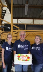 Larry Alsum, President and CEO of Alsum Farms & Produce is joined by his daughters, Heidi Alsum-Randall and Wendy Alsum-Dykstra, who share the duties of  Chief Operating Officers of the family firm.