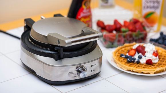 The Breville BWM520XL no-mess waffle maker