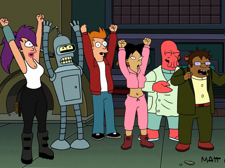 """""""Futurama"""" (Fox); March 28, 1999-Aug. 10, 2003; (Comedy Central) June 24, 2010-Sept. 4, 2013"""