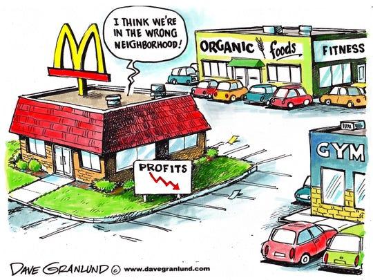 McDonald's profits drop
