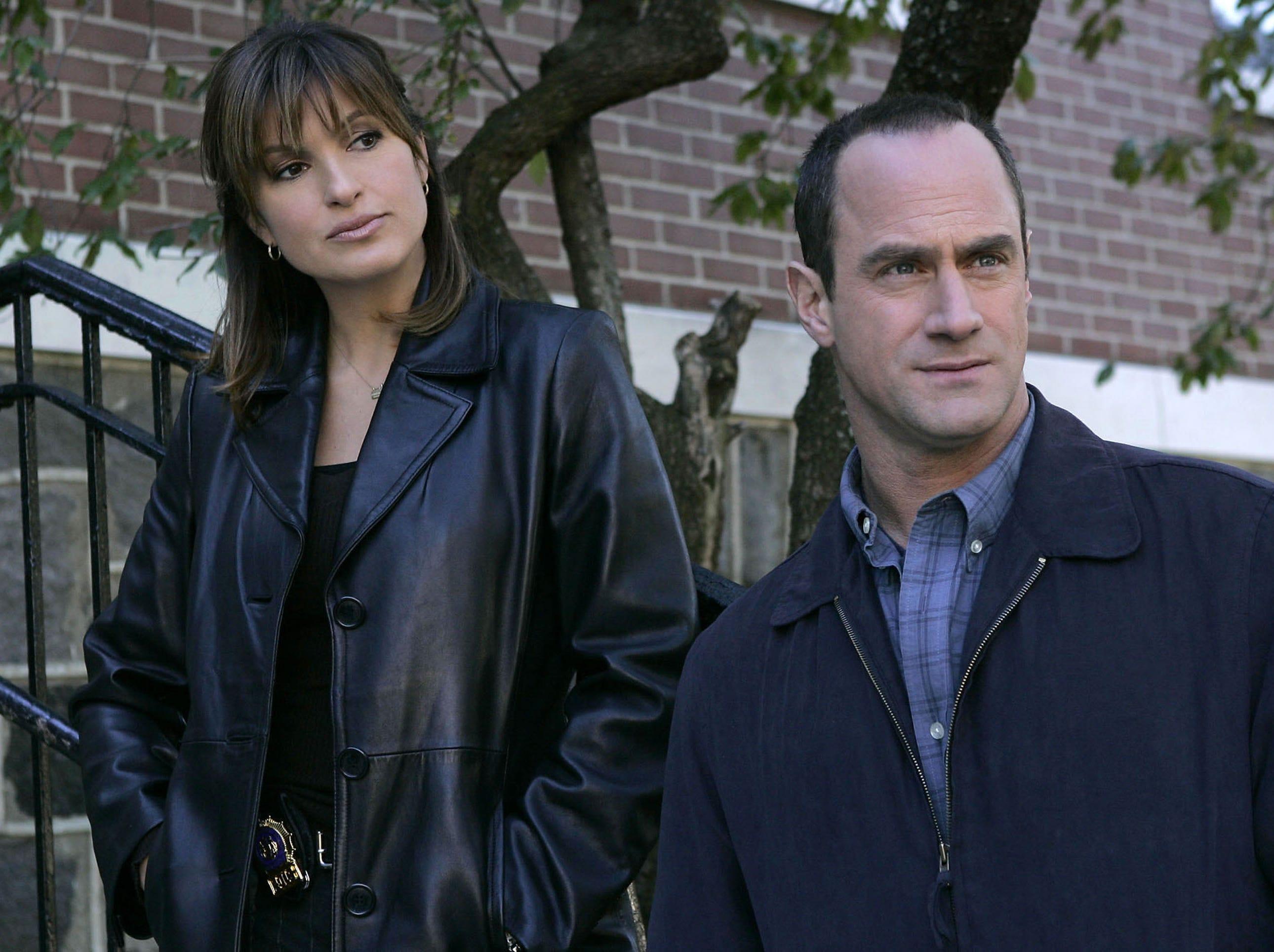 "Mariska Hargitay and Christopher Meloni on ""Law & Order: SVU"" (NBC); Sept. 20, 1999-"