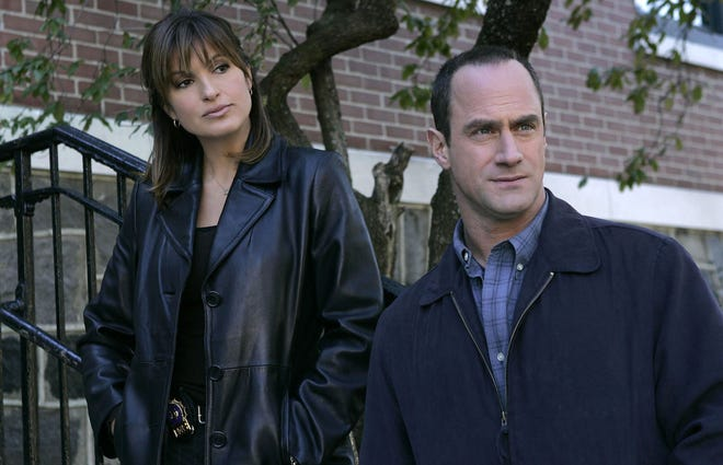 """Christopher Meloni, with Mariska Hargitay on """"Law & Order: SVU,"""" will star in a new spinoff, """"Law & Order: Organized Crime,"""" part of NBC's planned fall schedule."""