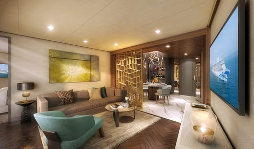 Sky Princess will feature two two-bedroom Sky Suites that will be bigger than any other suite ever built on a Princess ship.