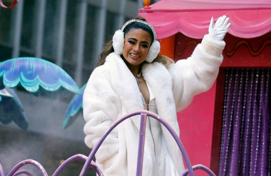 Ally Brooke is seen during the Macy's Thanksgiving Day Parade on November 22, 2018 in New York City.