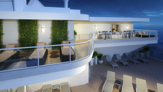 Sky Suites on Sky Princess will feature the largest balconies found on any Princess ship.