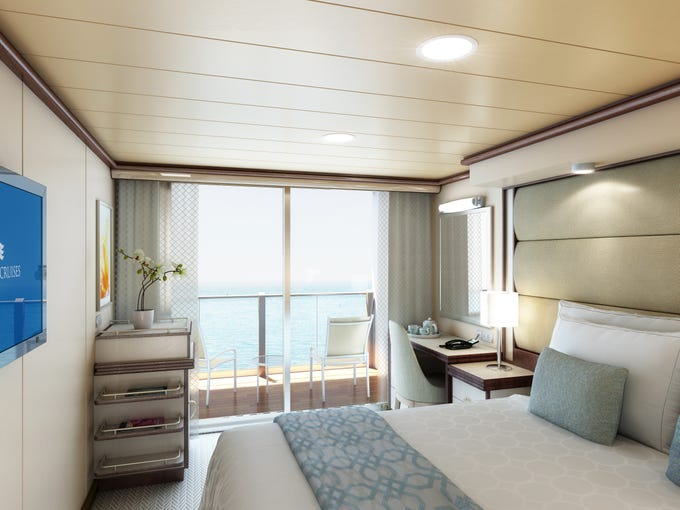 Ojai Retreat Balcony Room: Sky Princess: New Cruise Ship Revealed In Artist's Drawings