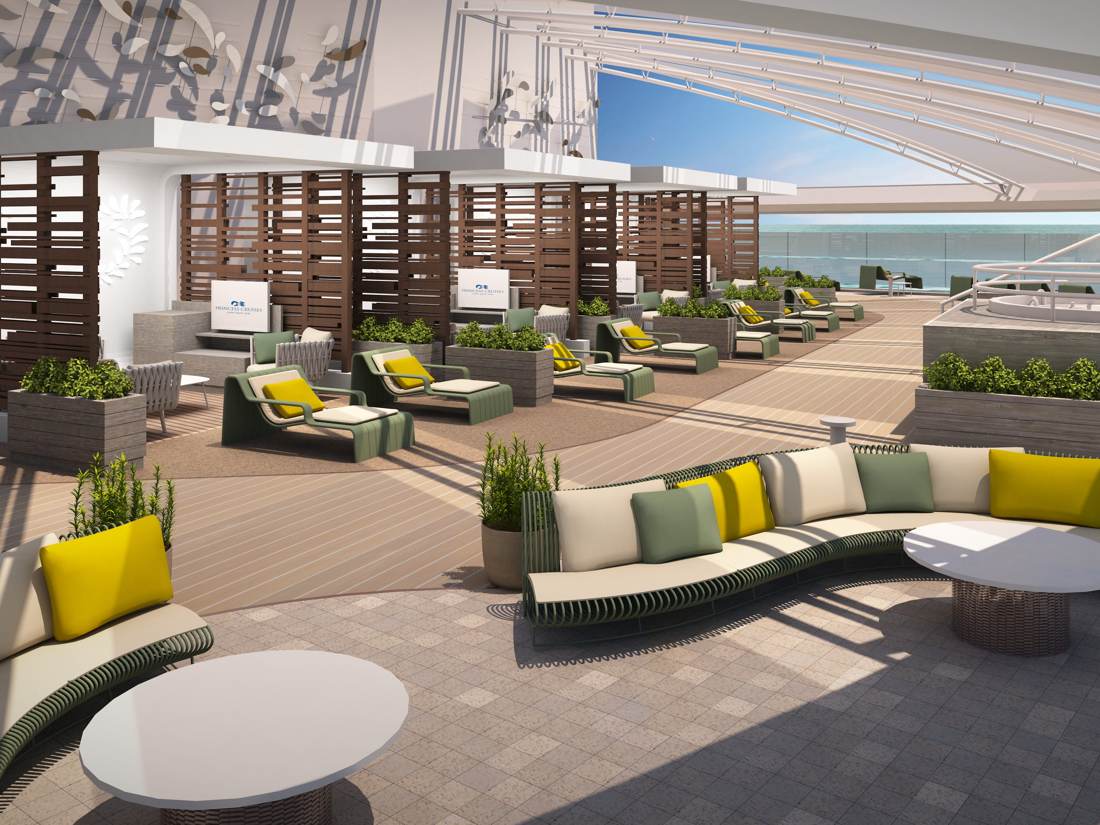 An artist's drawing of the adults-only Retreat planned for Sky Princess.