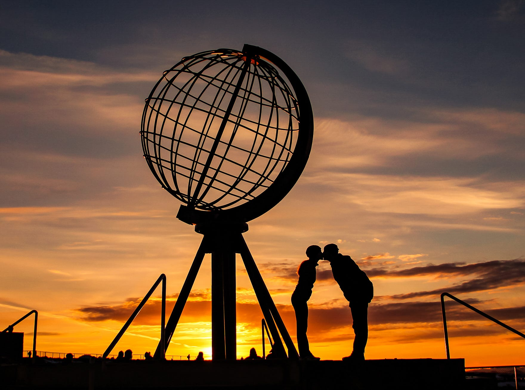 North Cape is located far above the Arctic Circle in Norway. Mike and Anne Howard stopped there on their HoneyTrek honeymoon.