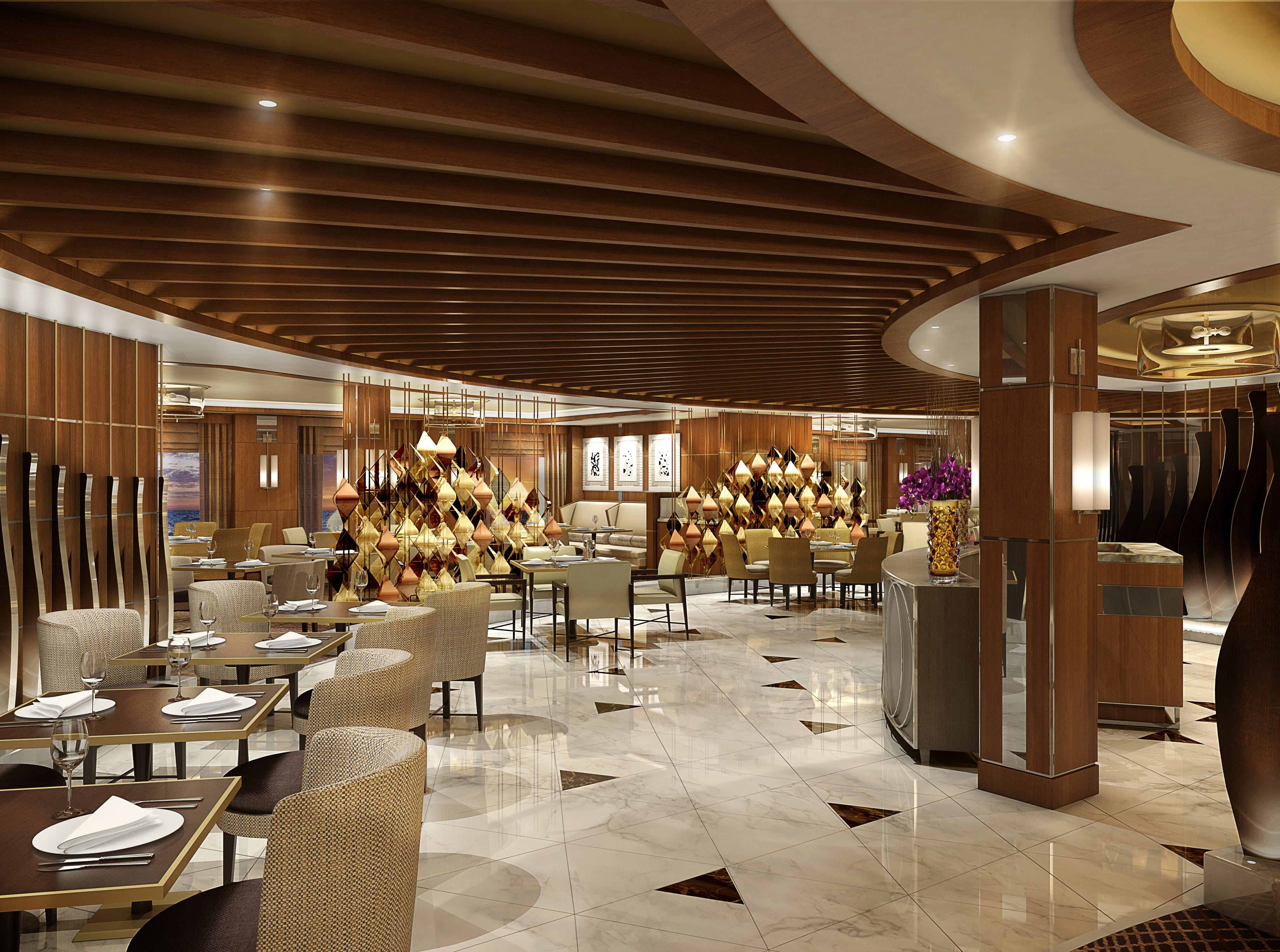 Extra-charge restaurants on Sky Princess will include a version of Princess Cruises' signature Sabatini's Italian Trattoria.