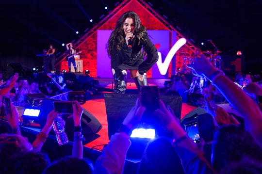 Lauren Jauregui performs on stage during MTV's 2018 Election Afterparty at Miami Dade College on November 6, 2018 in Miami, Florida.