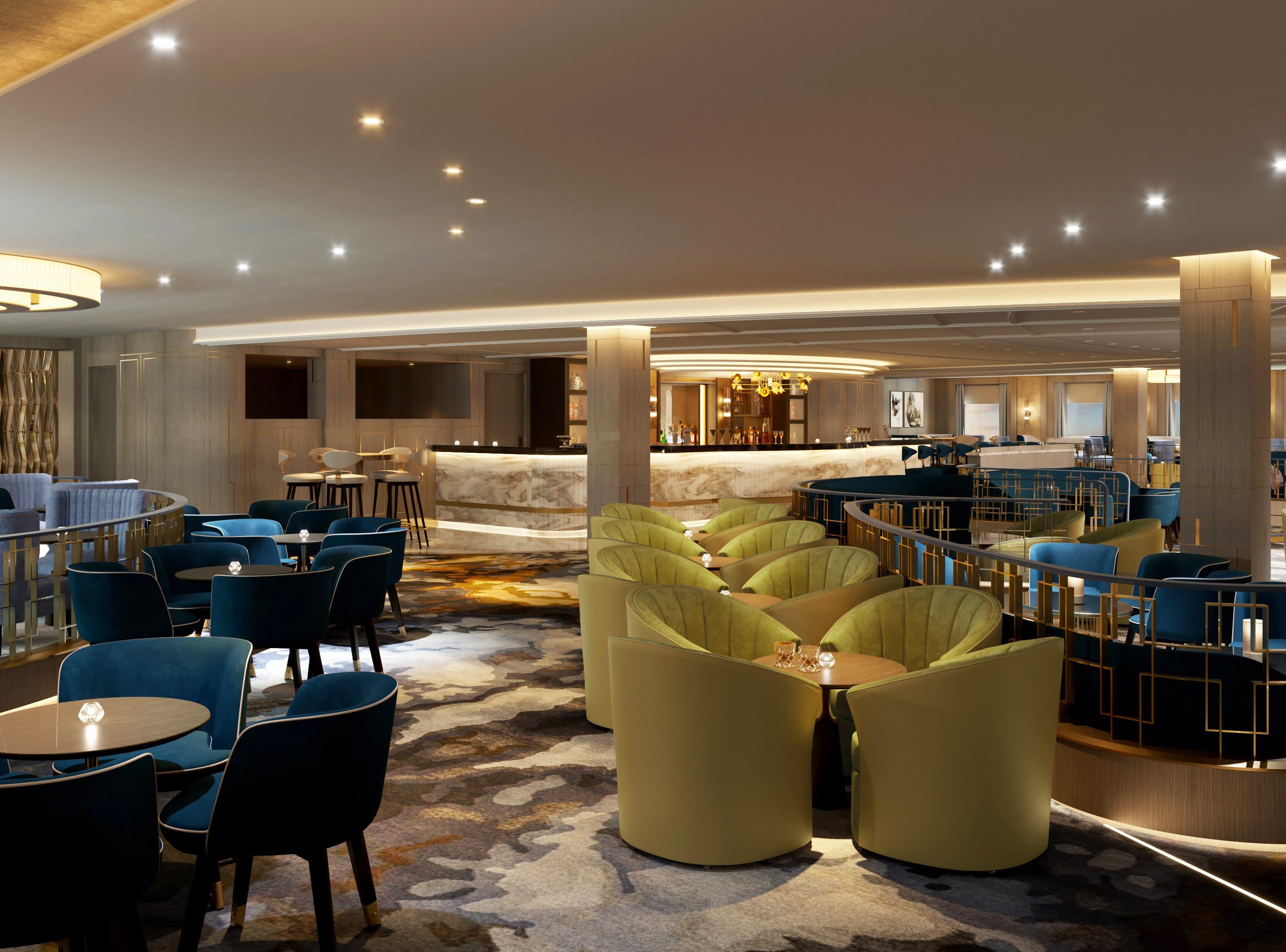 The Vista Lounge on Sky Princess will serve craft cocktails.