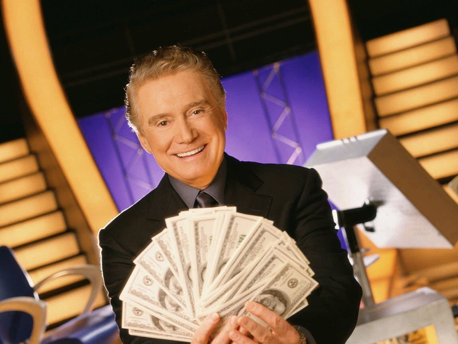 """Regis Philbin as host of """"Who Wants to Be a Millionaire"""" (ABC); August 16, 1999 – June 27, 2002"""