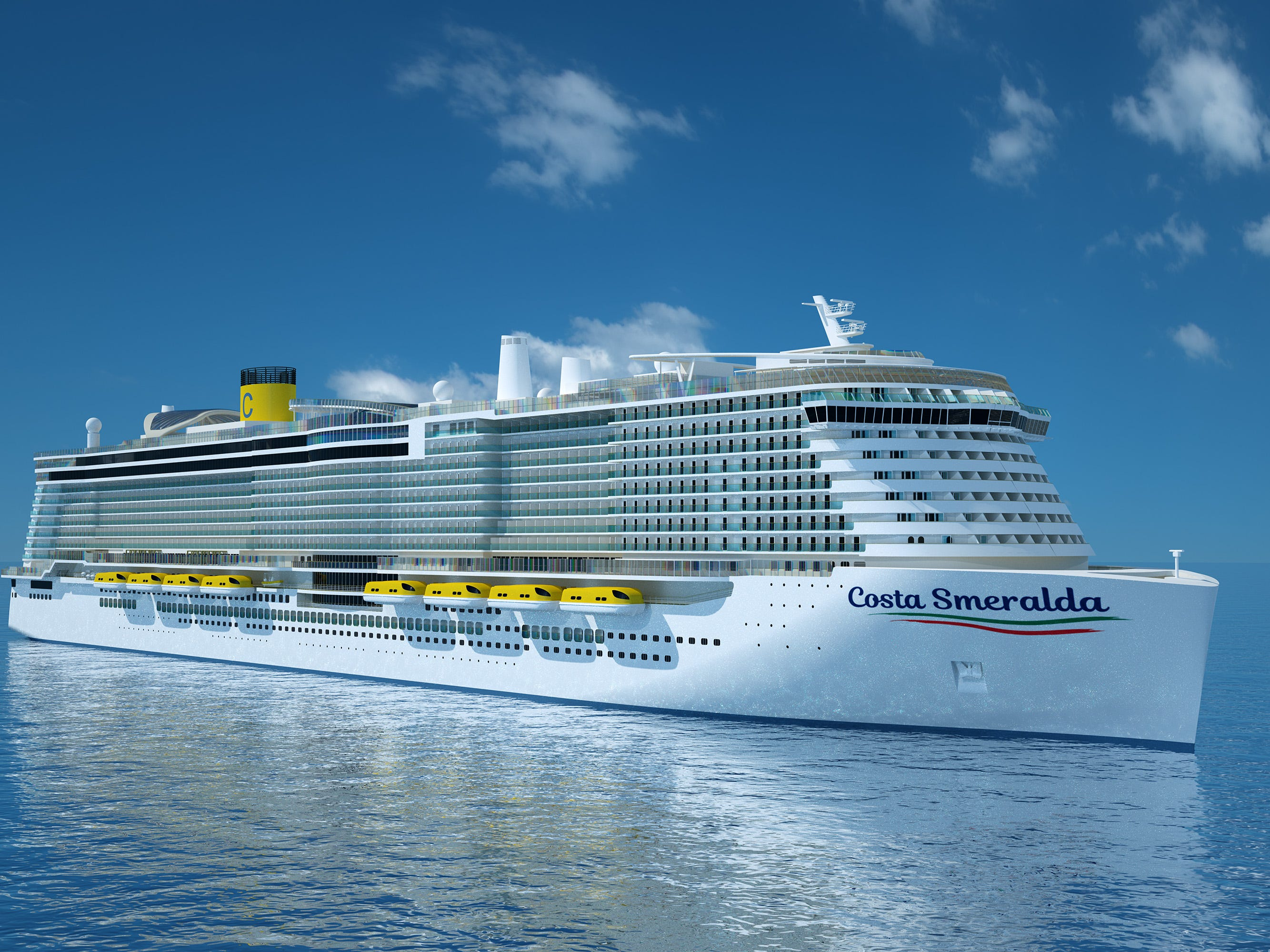 Costa Cruises in 2019 will unveil its biggest ship ever, Costa Smeralda.