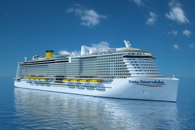 Costa Cruises in 2019 will unveil its biggest ship ever, Costa Smeralda.