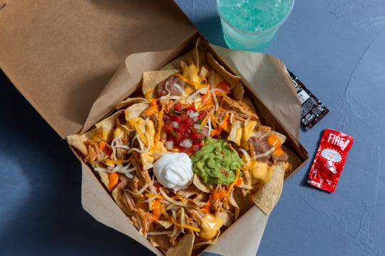 Buffalo Chicken Nachos Box.