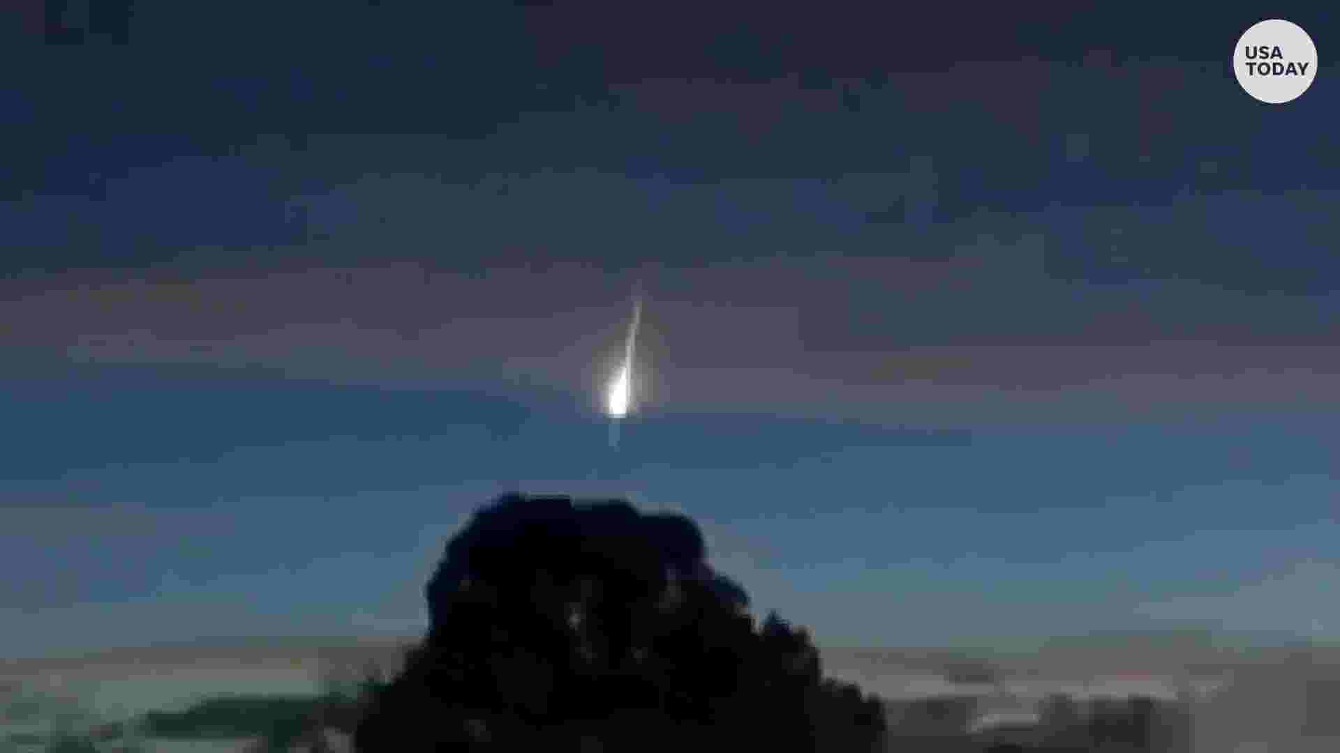 Mysterious light in sky captured in Northern California