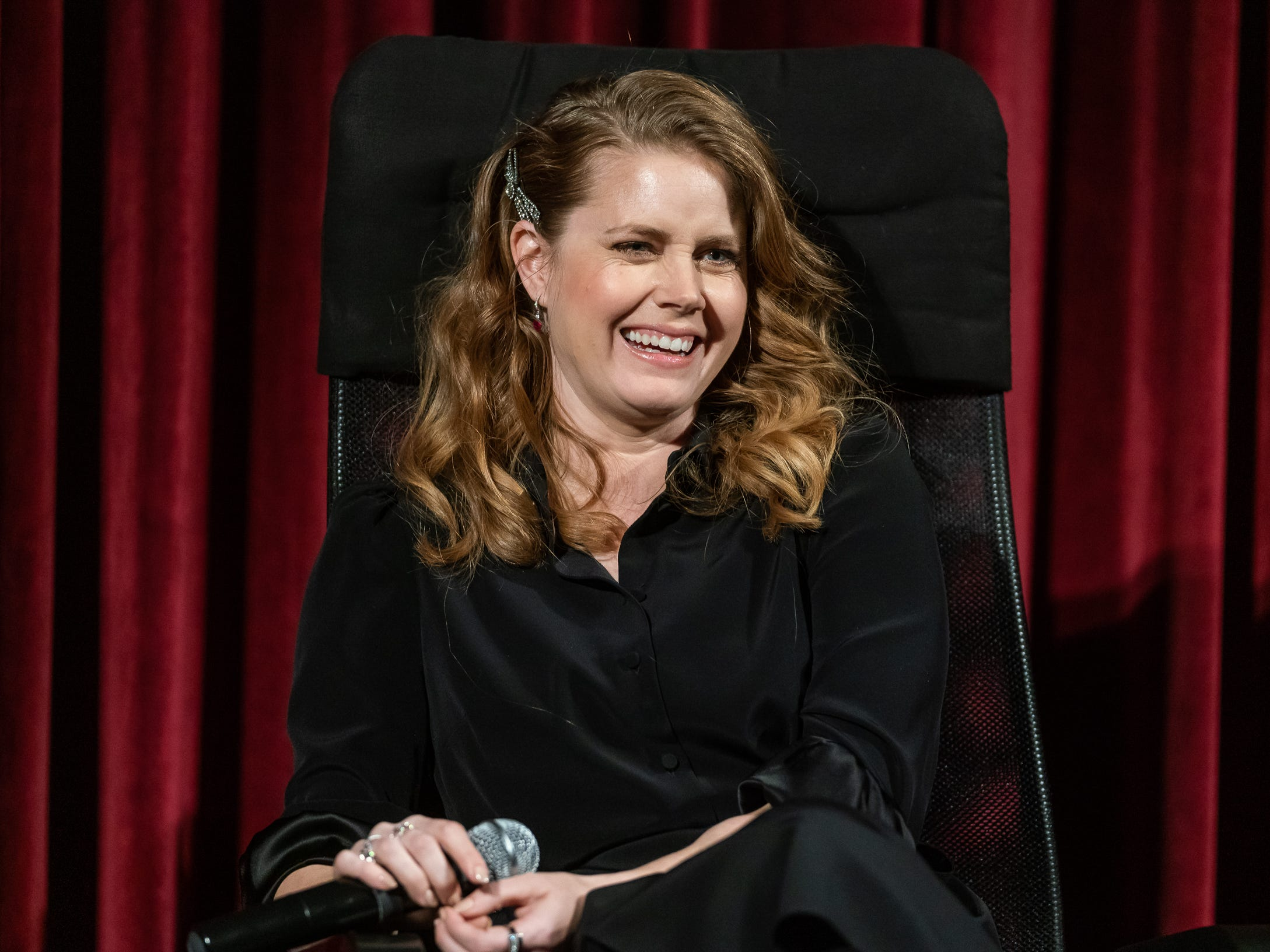 NEW YORK, NEW YORK - DECEMBER 18:  Actress Amy Adams attends The Academy of Motion Pictures Arts & Sciences Hosts an Official Academy Screening of 'Vice' at MOMA - Celeste Bartos Theater on December 18, 2018 in New York City. (Photo by Mark Sagliocco/Getty Images for The Academy Of Motion Picture Arts & Sciences) ORG XMIT: 775264161 ORIG FILE ID: 1084377446