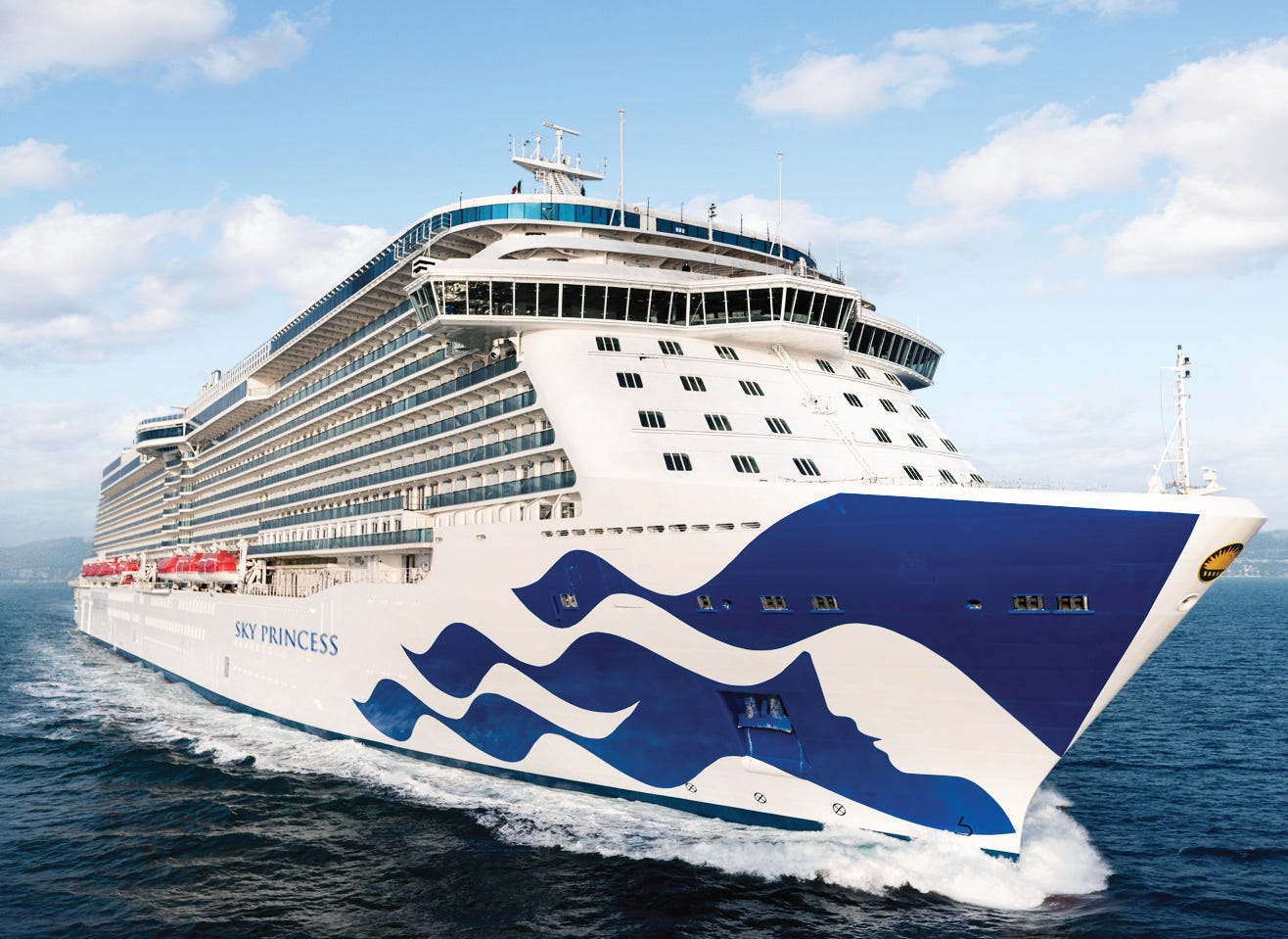 Princess Cruises in 2019 will unveil a new ship called Sky Princess. Carrying 3,660 passengers at double occupancy, it'll be the fourth vessel in the line's recent Royal Class series.