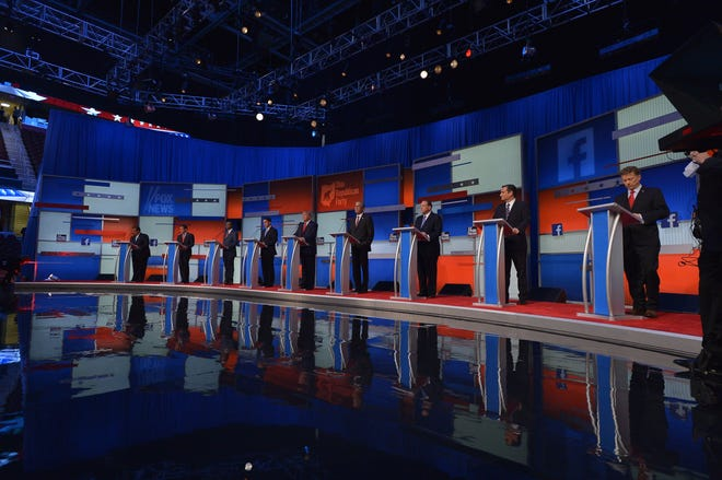Republicans had a big presidential field for 2016. Here are the candidates in Cleveland, Ohio, on Aug. 6, 2015.