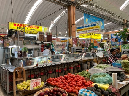 One highlight of my 2018 'mileage run' was a window shopping at the Mercado Medellín in the Roma neighborhood of Mexico City on Dec. 10, 2018.