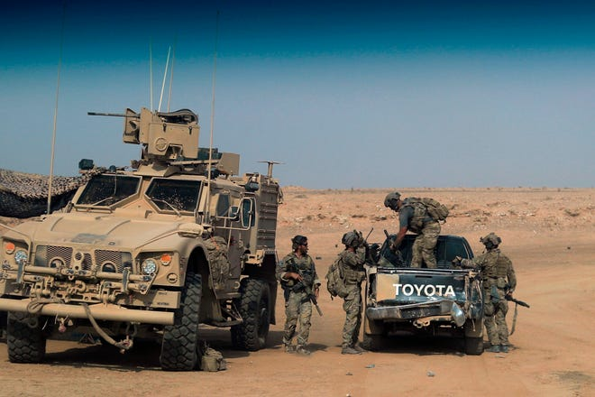 U.S.-backed forces near Susah, Syria, on Sept. 13, 2018.