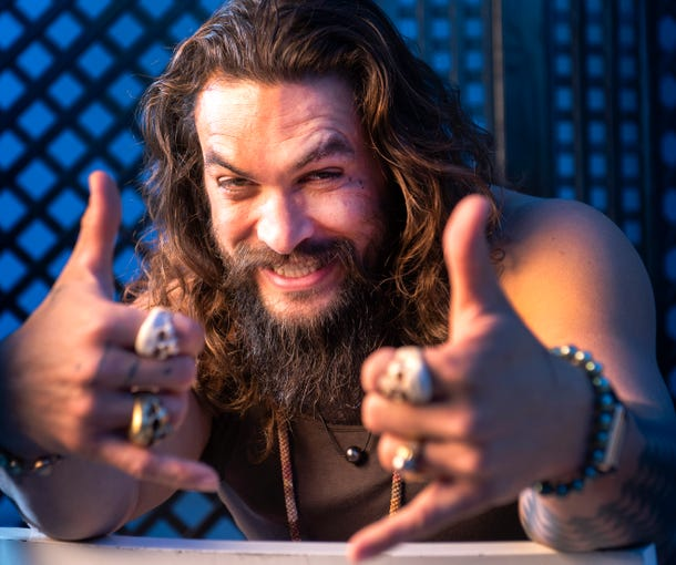 'Aquaman' Jason Momoa Gets His Party Started With Solo Splash